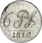 6 Pfennig - Friedrich Günther – reverse