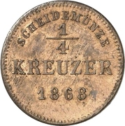 ¼ Kreuzer - Albert – reverse