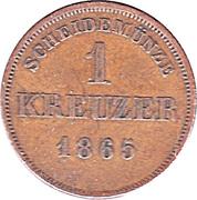 1 Kreuzer - Friedrich Günther – reverse