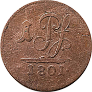1 Pfennig - Ludwig Friedrich II – reverse