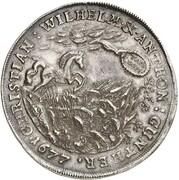1 Thaler - Christian Wilhelm I and Anton Günther II – obverse