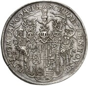 1 Thaler - Christian Wilhelm I and Anton Günther II – reverse