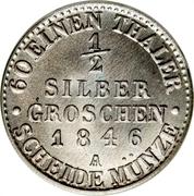 ½ Silber Groschen - Günther Friedrich Karl II – reverse