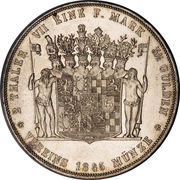 2 Thaler / 3½ Gulden - Günther Friedrich Karl II – reverse