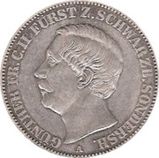 1 Vereinsthaler - Günther Friedrich Karl II – obverse