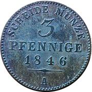 3 Pfennige - Günther Friedrich Karl II – reverse