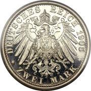2 Mark - Karl Günther (Silver Jubilee; thin rim) – reverse
