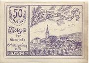 50 Heller (Schwarzenberg) -  obverse