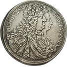 1 Thaler - Ferdinand Wilhelm Eusebius & Maria Anna (Kremnitz) – obverse