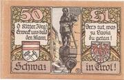 50 Heller (Schwaz) – reverse