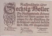 60 Heller (Schwaz) – obverse