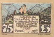75 Heller (Schwaz) – reverse