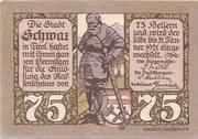 75 Heller (Schwaz) -  obverse