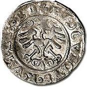 Półgrosz - Ludwik II Jagiellończyk – reverse