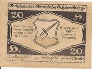 20 Heller (Schwertberg) -  reverse