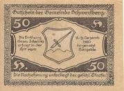 50 Heller (Schwertberg) -  reverse