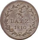 ⅔ Batzen – reverse