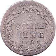 5 Schilling – reverse