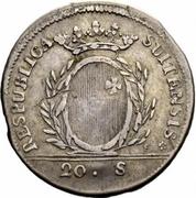 20 Schillings / ½ Gulden – obverse