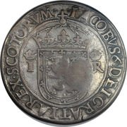 1 Ryal - James VI (1st Coinage, Countermark of 1578) – obverse