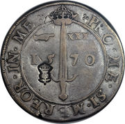 1 Ryal - James VI (1st Coinage, Countermark of 1578) – reverse