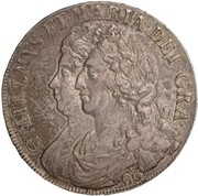 60 Shillings - William & Mary – obverse