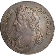 1 Dollar - Charles II (2nd Coinage) – obverse
