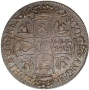 1 Dollar - Charles II (2nd Coinage) – reverse