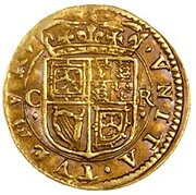 1 Britain Halfcrown - Charles I (3rd Coinage, 1st Issue) – reverse