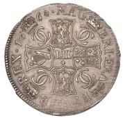 4 Merks - Charles II (1st Coinage) – reverse