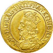 ½ Unit - Charles I (3rd coinage, 1st Issue) – obverse