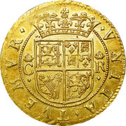 ½ Unit - Charles I (3rd coinage, 1st Issue) – reverse