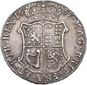 40 Shillings - James VII – reverse
