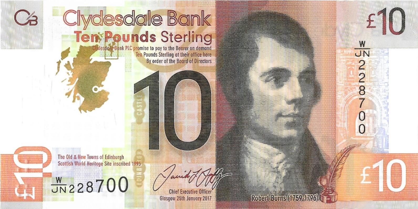 Bank of Scotland £10 10 Pounds 2016 P-131a UNC POLYMER Banknote