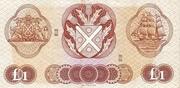 1 Pound (Bank of Scotland) – reverse