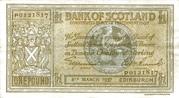1 Pound (Bank of Scotland) – obverse