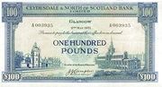 100 Pounds (Clydesdale & North of Scotland Bank) – obverse