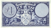 1 Pound (National Commercial Bank of Scotland) – reverse