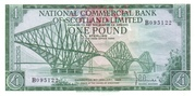 1 Pound (National Commercial Bank of Scotland) – obverse