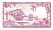 100 Pounds (National Commercial Bank of Scotland) – reverse
