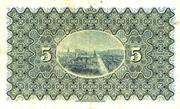 5 Pounds (National Bank of Scotland) – reverse