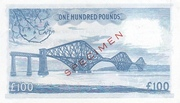 100 Pounds (National Bank of Scotland) – reverse