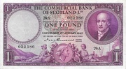 1 Pound (Commercial Bank of Scotland) – obverse