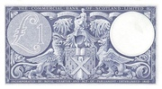 1 Pound (Commercial Bank of Scotland) – reverse