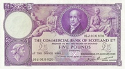 5 Pounds (Commercial Bank of Scotland) – obverse