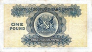 1 Pound (North of Scotland Bank) – reverse