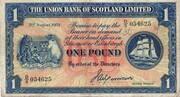 1 Pound (Union Bank of Scotland) – obverse