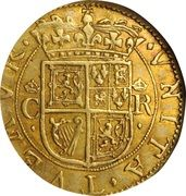 1 Britain Crown - Charles I (3rd Coinage, 1st Issue) – reverse