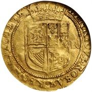 1 Double Crown - Charles I (1st Coinage) – reverse