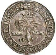 1 Ryal - Mary I (5th Period, Countermark of 1578) – reverse